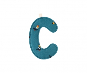 Fabric Letter C Lilliputiens Bird