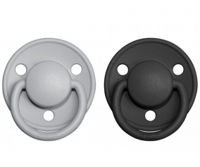 2 Sucettes BIBS De Lux Cloud/Black