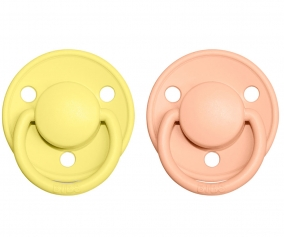 2 Sucettes BIBS De Lux Sunshine/Peach Sunset