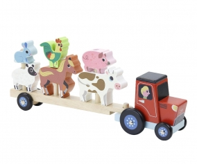 Tractor con Animales Apilables