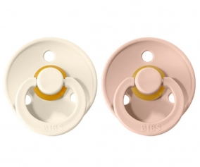 2 Sucettes BIBS Colours Blush/Ivory