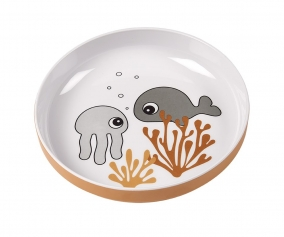 Mini Plate Sea Friends Mustard