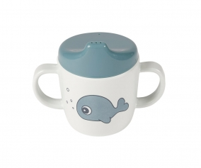2-Handle Spout Cup Sea Friends Blue