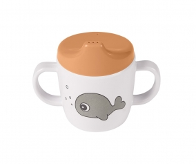 2-Handle Spout Cup Sea Friends Mustard