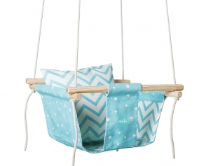 Baby Swing Blue Dots