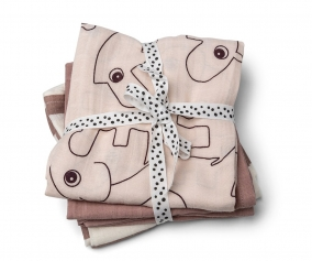 3 Muslin Cloths Deer Friends Powder