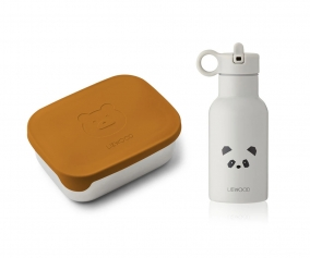 Pack Almuerzo Joni Mr Bear Mustard/Panda Light Grey