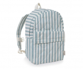 Personalised Kids Backpack Blue/White Stripes