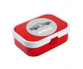 Personalised Red Midi Campus Lunch Box Racing Car