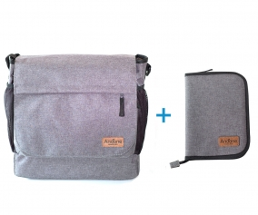 PROMO Borsa Andone Dynamic Walks + Porta Documenti Grigio