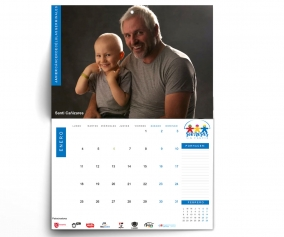 Calendario Pared Solidario Sonrisas sin Cáncer 2021