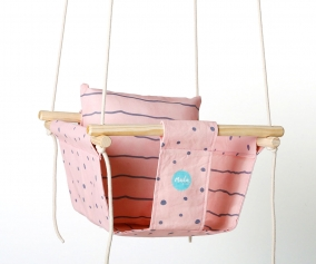 Baby Swing Baby Pink Dots