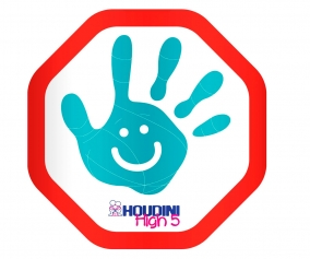 Houdini High 5 Safety Kids Car Sticker