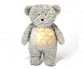 Light-Sound Organic Teddy Bear Moonie Grey