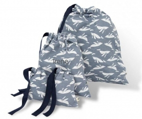 4 Laminated Nursery Bags Whales