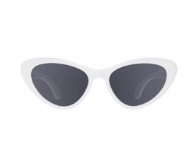 Lunettes de Soleil Flexibles  Cat-Eye Wicked White (3-5 ans)
