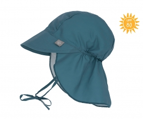 Flap Hat with Sun Protection Navy