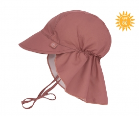 Flap Hat with Sun Protection Rosewood