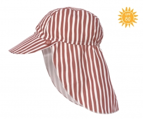 Gorrita Flap con Protección Solar Stripes Red
