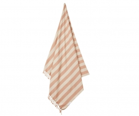 Toalla de Playa Mona Stripe Tuscany Rose/Sandy