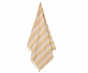 Toalla de Playa Mona Stripe Peach/Sandy/Yellow Mellow