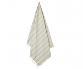 Toalla de Playa Mona Stripe Sea Blue/Sandy