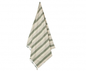 Toalla de Playa Mona Stripe Garden Green/Sandy/Dove Blue