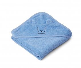 Capa de Baño Bebé Albert Mr. Bear Sky Blue
