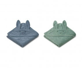 2 Capas de Baño Bebé Albert Rabbit Blue Mix