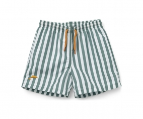 Bañador Short Duke Stripe Peppermint/White