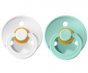 2 Sucettes BIBS Colours White/Mint