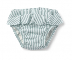 Bañador Braguita Elise Seersucker Stripe Sea Blue/White