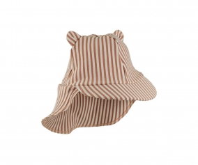 Gorrito de Playa Senia Seersucker Stripe Tuscany Rose/Sandy