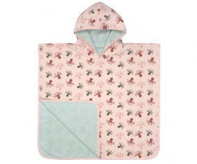 Poncho Towel Octopus Rose