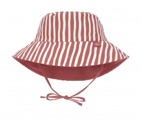 Reversible Bucket Hat Stripes Red