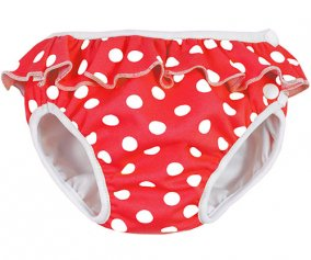 Red Polka Dot Swim Nappy