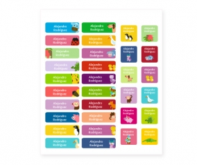 38 Animal Iron-On Labels & 20 Stickers Combination Pack