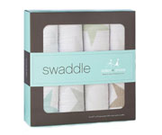 4 Pack Aden+Anais 'Super Star Scout' Bamboo Muslin Swaddle Cloths
