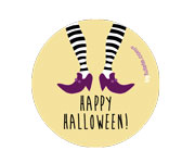 1 Halloween Witch Badge