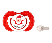 LOVI Personalisable Red Santa Soother