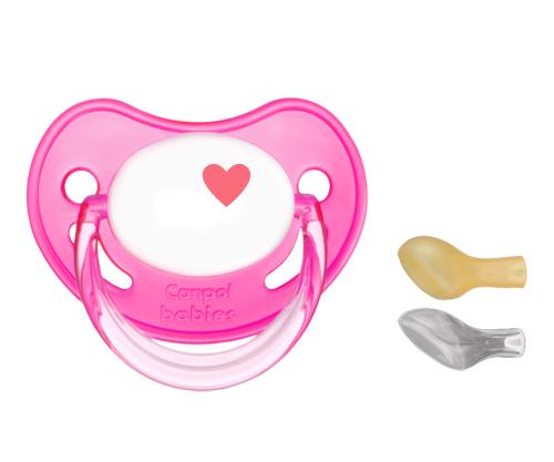 Image of Succhietto Personalizzato Canpol Cuore Fucsia 8269