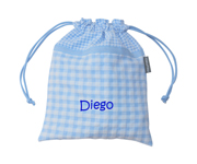 Blue Gingham Personalisable Lunch Bag