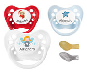 Chupetes Personalizados Nip Angelito, Osito y Blue Star