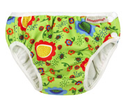 Green Flower Swim Nappy