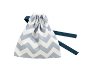 Blue Chevron Fabric Soother Case