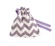 Mauve Chevron Fabric Soother Case
