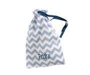 Blue Chevron Personalised Lunch Bag