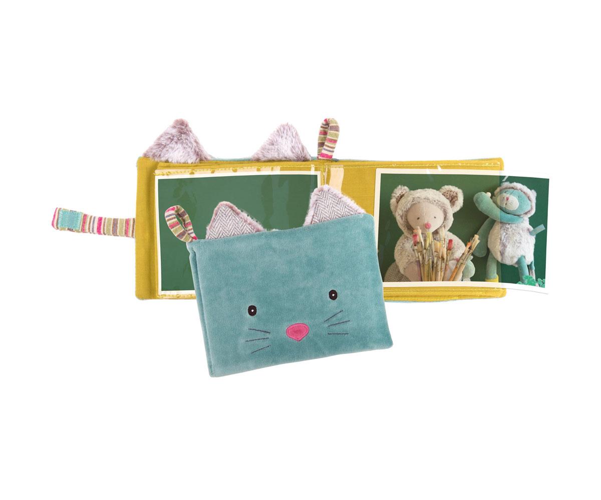 Alb m de fotos textil personalizado gato - Album de fotos personalizado ...