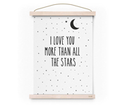 Poster A3 Love More Than All The Stars by Eef Lillemor