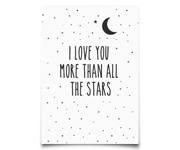 Postal I Love You More Than All The Stars by Eef Lillemor